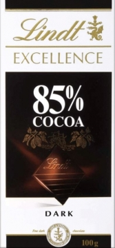 LINDT Excellence шоколад какао 85%  100г*20шт