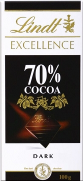 LINDT Excellence шоколад какао 70%  100г*20шт