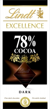 LINDT Excellence шоколад какао 78%  100г*20шт