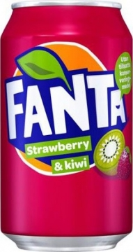 Fanta Strawberry & Kiwi 0,33л./12шт.  Фанта