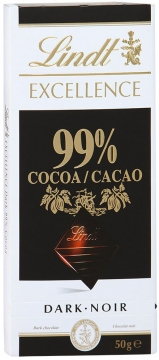 LINDT Excellence шоколад какао 99%  50г*18шт