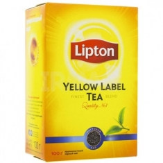 Липтон Чёрн. YELLOW LABEL TEA ЛИСТОВОЙ 100Г
