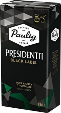 Paulig Presidentti Black Label 250г молотый Паулиг