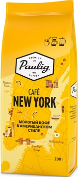 Паулиг Coffee City Кофе Paulig Cafe New York 12x200г мол пачка Паулиг