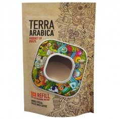 Кофе TERRA ARABICA Product of Brasil 75 г., кристал, пакет 1/20  TERRA ARABICA