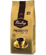 Кофе натуральный Paulig Presidentti Gold Label 250г зерно  пачка 250г  1/12  Paulig