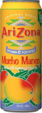 Arizona mucho mango with all natural flavor 0,35л./30шт. Аризона