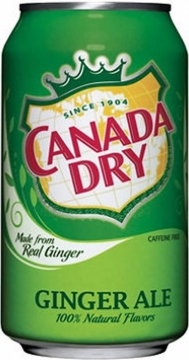 Canada Dry Ginger Ale 0,35л./24шт.  Канада Драй