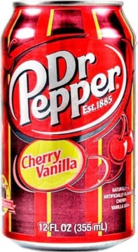Dr. Pepper Cherry Vanilla 0,355л./12шт. Доктор Пеппер