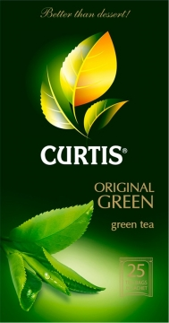 Чай Curtis Original Green Tea зелёный 25x2 1/12 Куртис