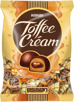 Конфеты TOFFEE CREAM КАКАО пакет-флоупак 250гр./1шт.